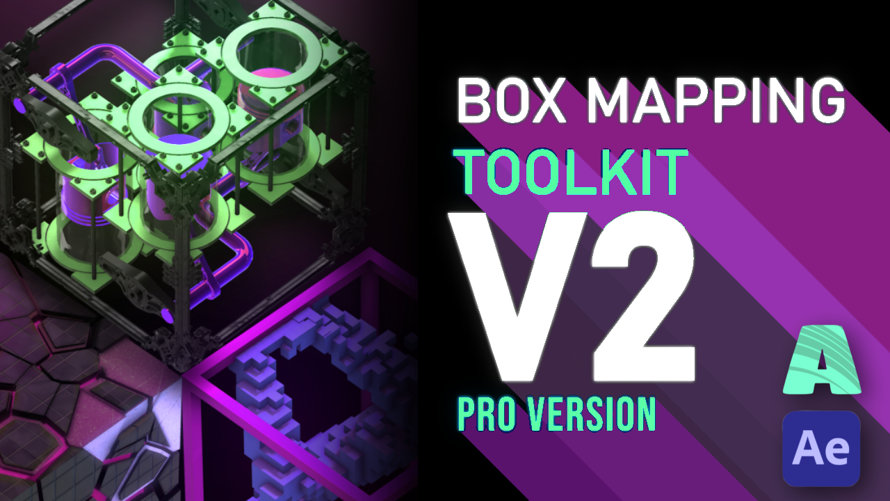Video Mapping Toolkit for projection mapping cubes and boxes - Automated After Effects & Element 3D Templates, Tools & Prerendered media. Video Mapping Toolkit for Cubes. Pixel-mapped & Ready to project.